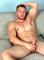 Adi Hadad rims Patrick Dunn, fucks his horny ass, then licks his own cum off his sexy muscular chest.