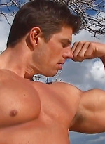 The Rippling Creek. Zeb atlas naked outdoors.