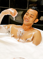 It's bath time for Vino Rainz